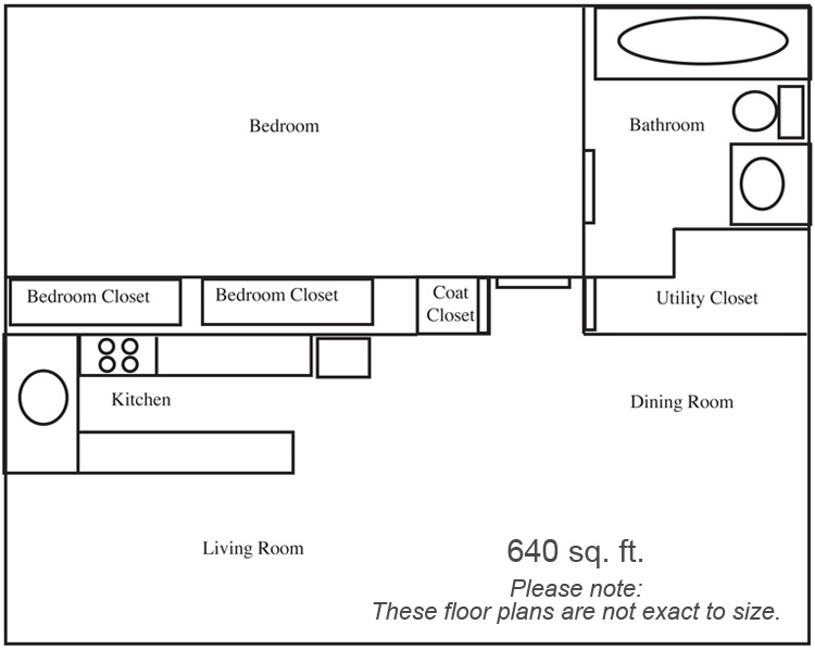 One Bedroom Deluxe Apartment Floorplan