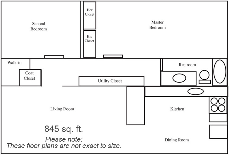 Two Bedroom Apartment Floorplan