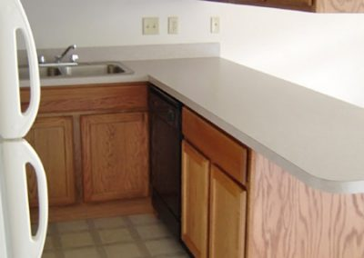 One bedroom apartment in Evansville, Kitchen view