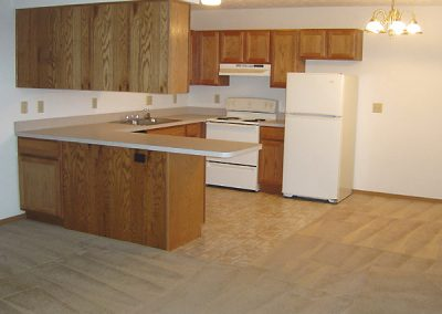 Two bedroom apartment in Evansville, Kitchen view